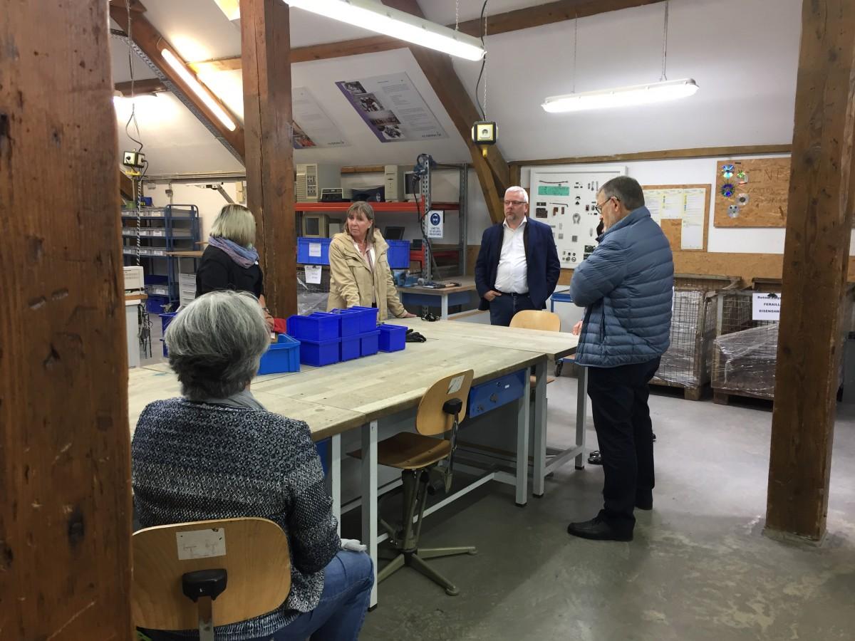 atelier schläifmillen - visite de mme lydie polfer - inter-actions